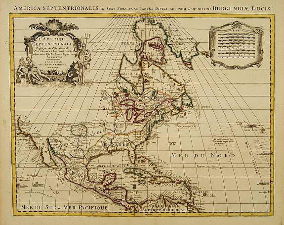 COVENS, J. / MORTIER, C. -  Carte d' Amerique Dressee pour l'Usage Du Roy. . .