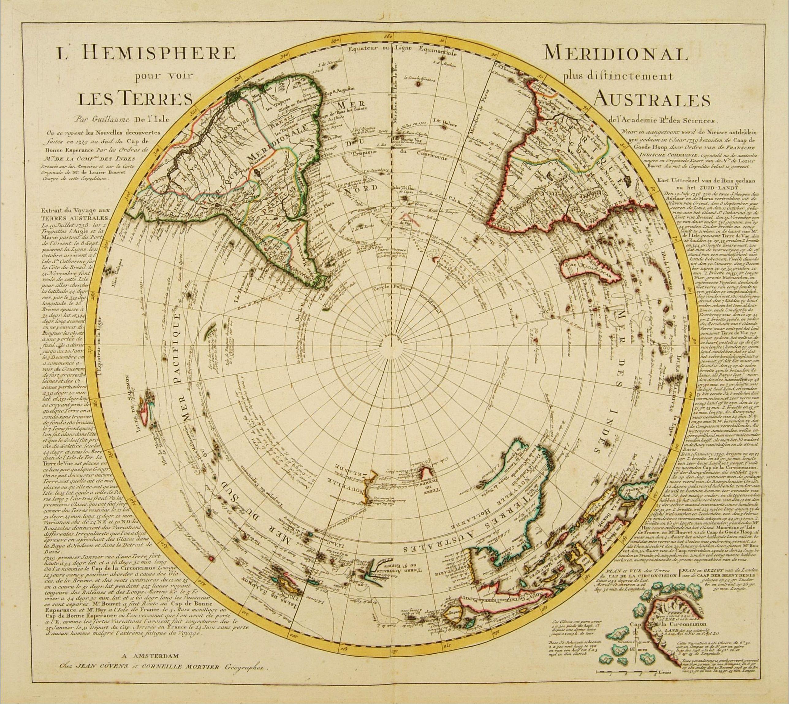 COVENS, J. / MORTIER, C. -  L'Hemisphere Meridional pour voir plus distinctement les Terres Australes.