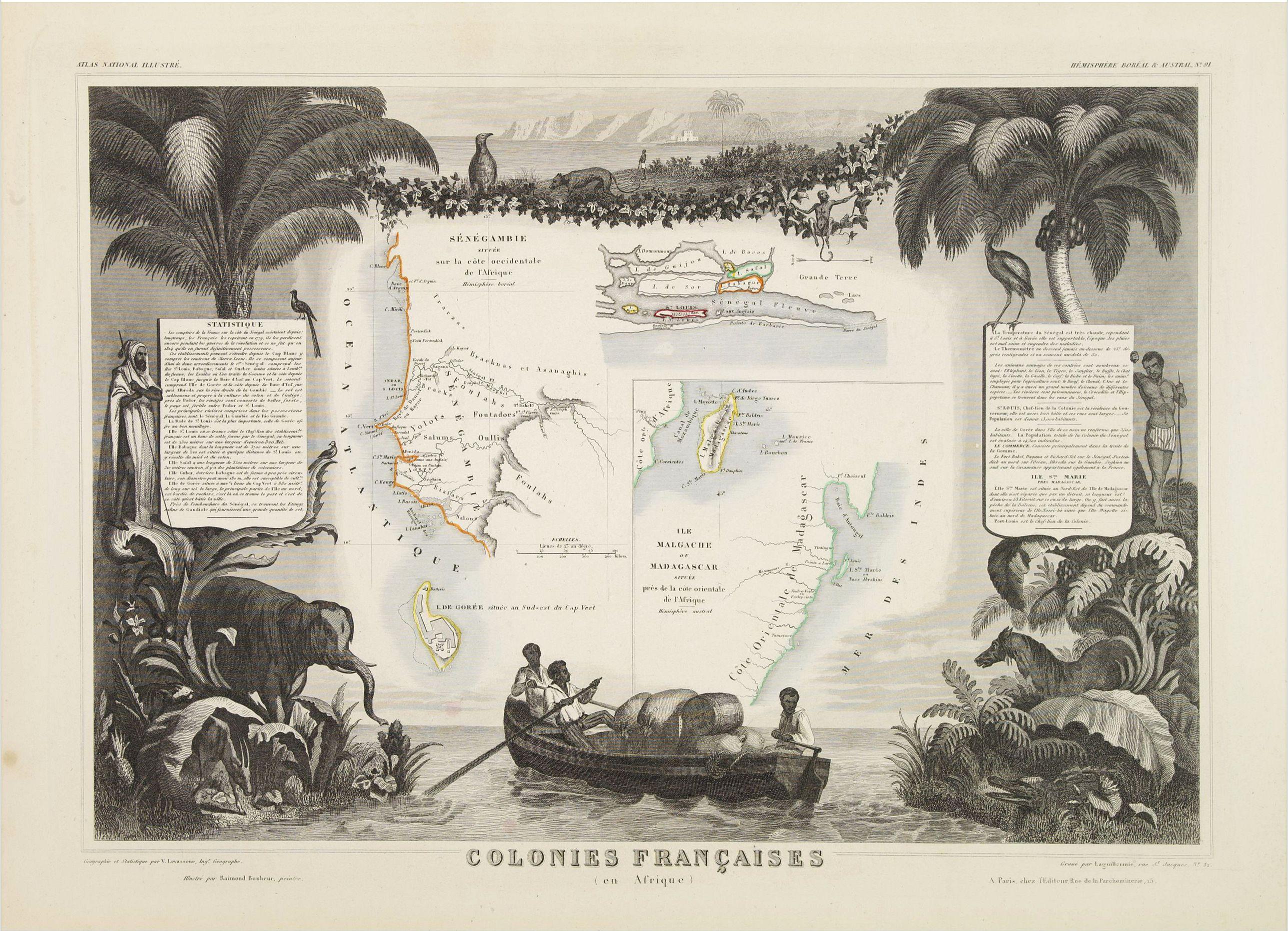 LEVASSEUR, V. -  Colonies Françaises (en Afrique.)