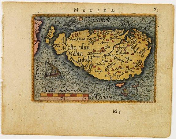 ORTELIUS,A. / GALLE,F. - Malta olim Melita Insula.