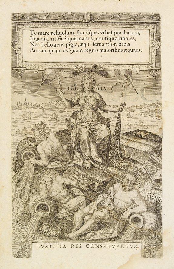 GUICCIARDINI,L. -  Title page: Descrittione.. di tutti i Paesi Bassi..