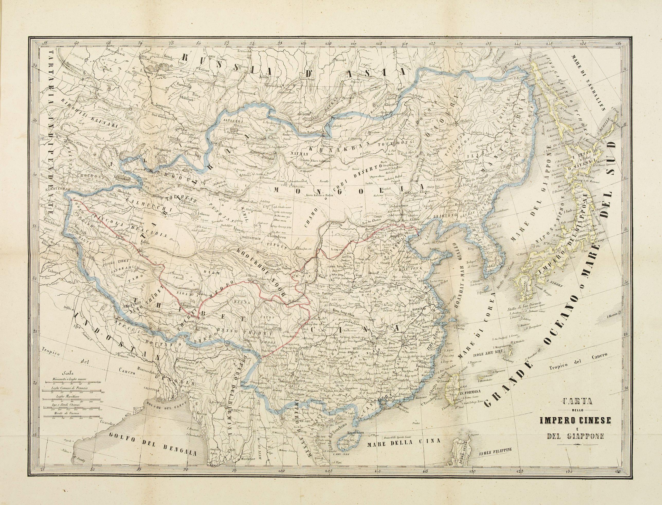 DOYEN,Fr. -  Carta dello Imperio Cinese e del Giappone.