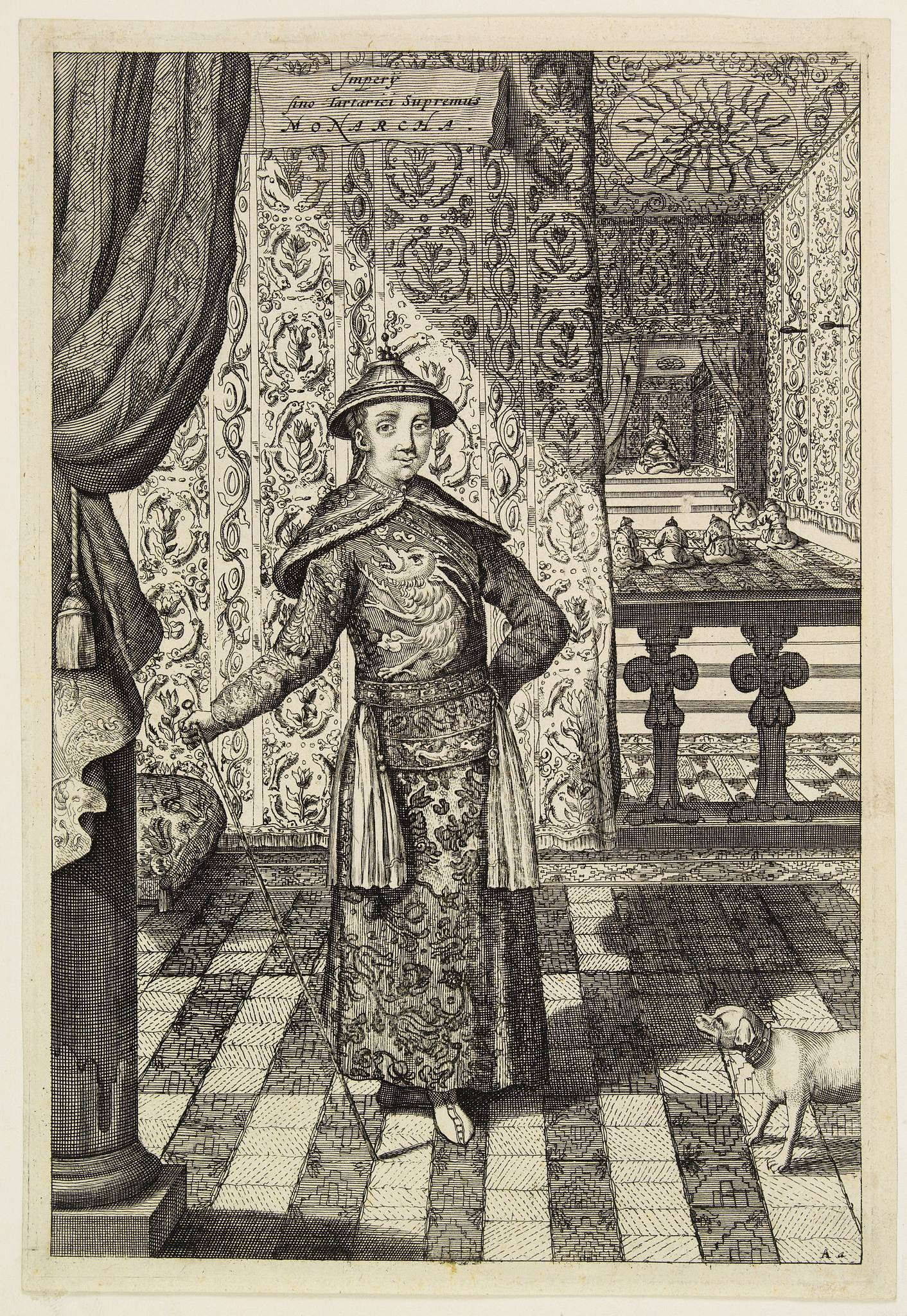 JANSSONIUS VAN WAESBERGHE, J. -  Impery sino Tartarici Supremus Monarcha.