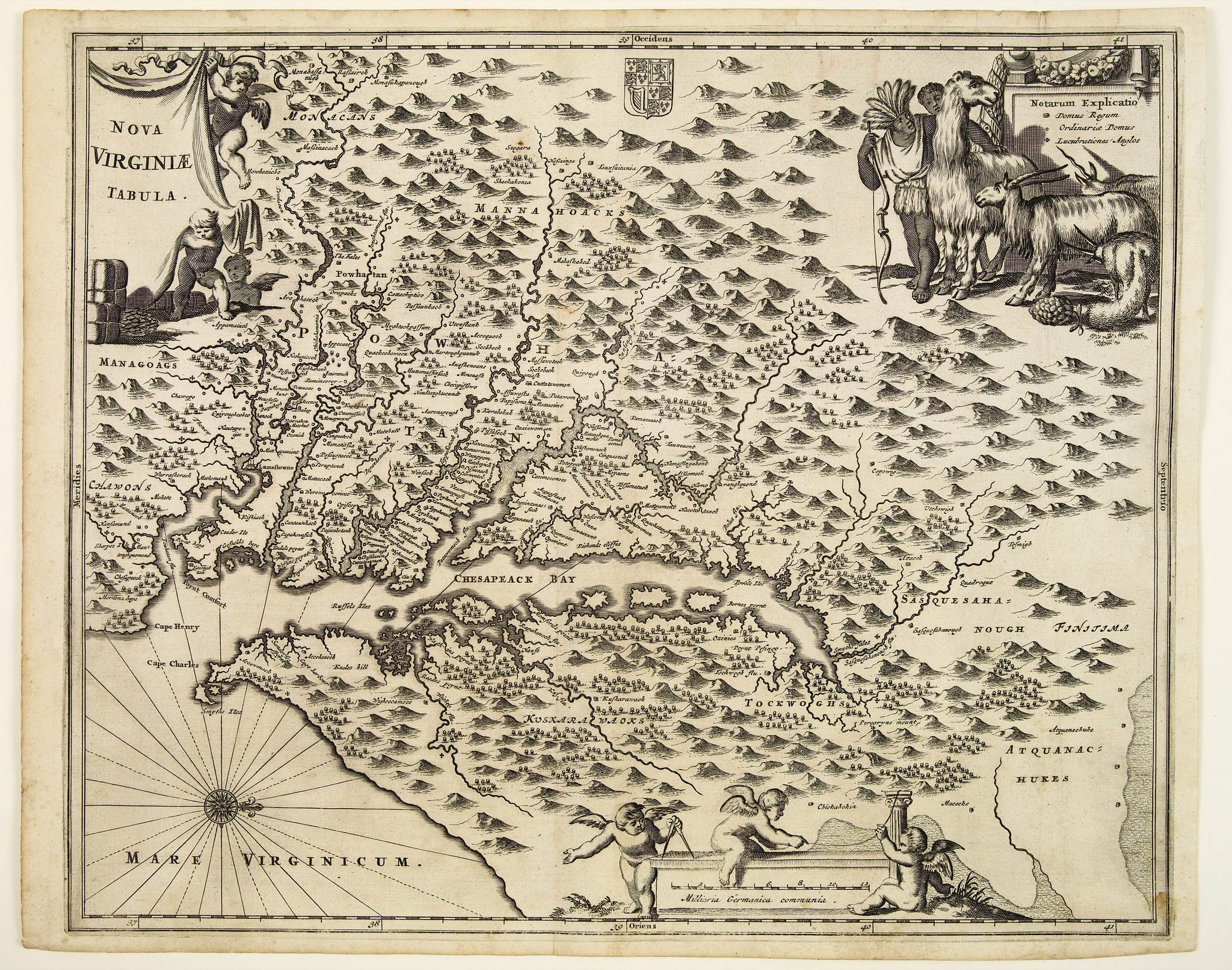 MONTANUS, A. / OGILBY, J. -  Nova Virginia Tabula.