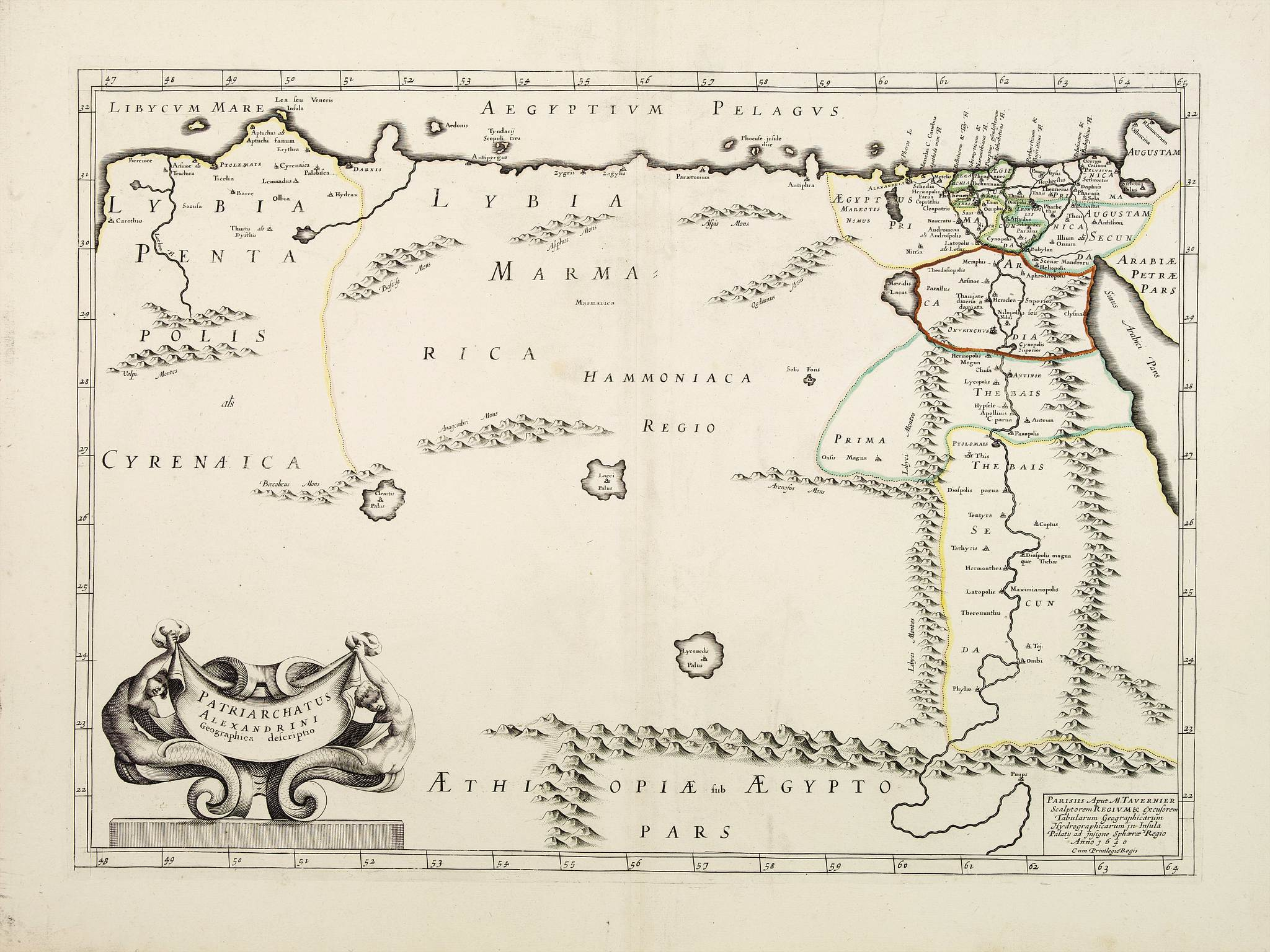 MARIETTE,P. / TAVERNIER,M. -  Patriarchatus Alexandrini Geographica descriptio.