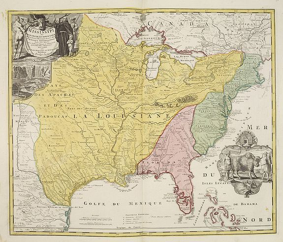 HOMANN, J.B. -  Amplissimae Regionis Mississipi,.. Provinciae Ludovicianae. . .