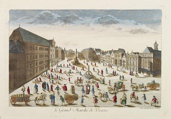 HUQUIER -  Le Grand Marché de Vienne.