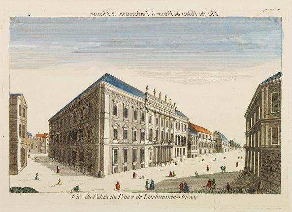 HUQUIER -  Vue du Palais du Prince de Liechtenstein à Vienne.