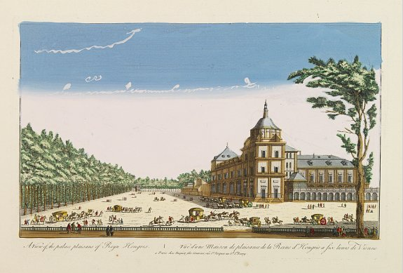 HUQUIER -  A view of the palace plaisans of Reyn Hongres...