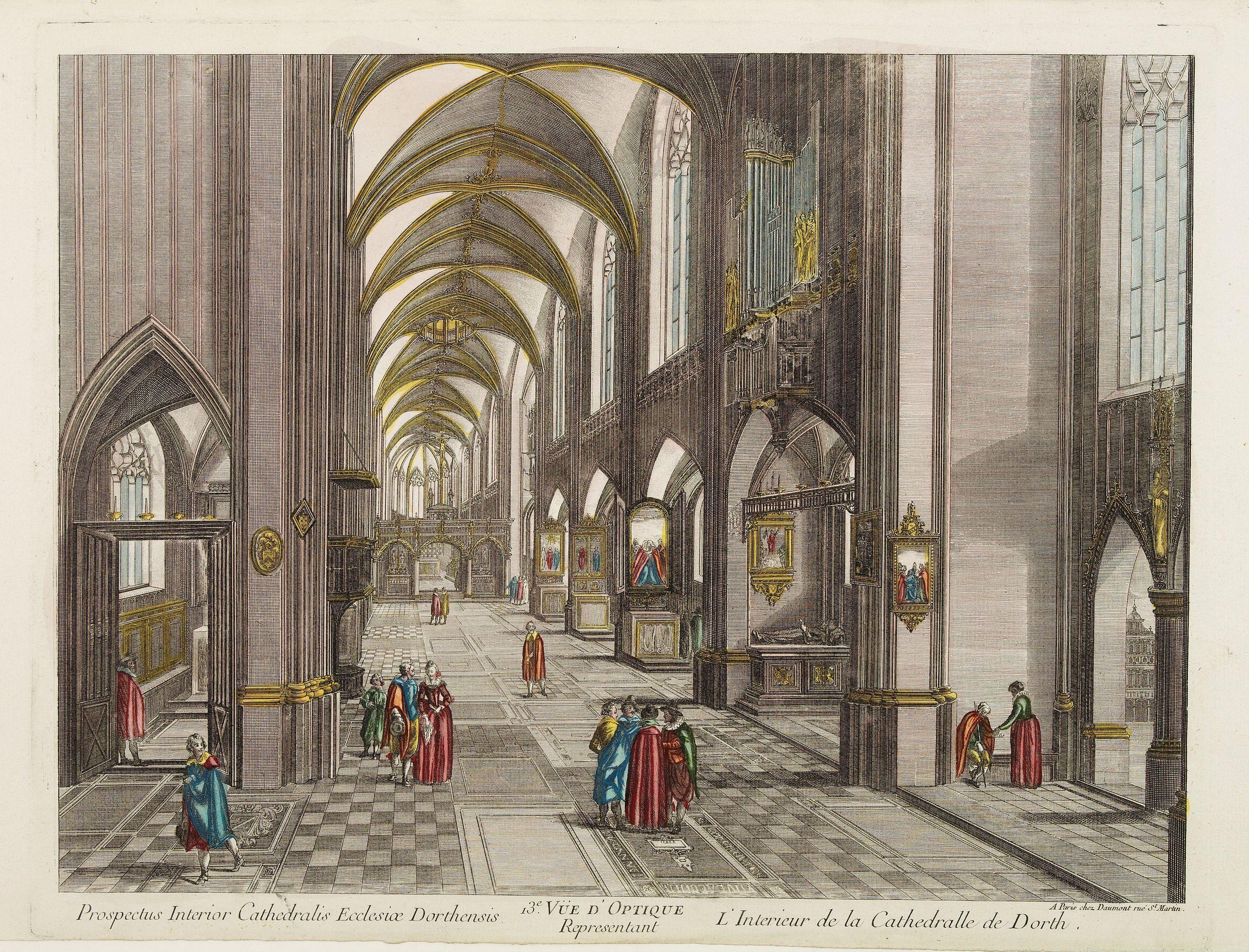 DAUMONT -  13e. V�e d'Optique Representant L'Interieur de la Cathedralle de Dorth.