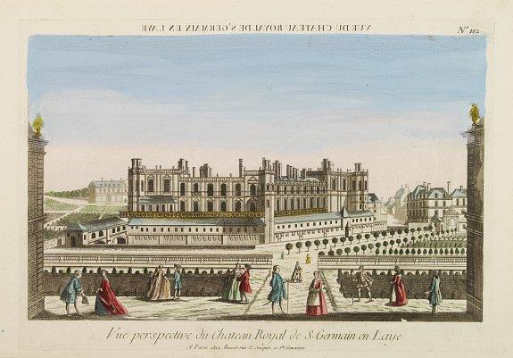 BASSET -  Vue perspective du Château Royal de S. Germain en Laye.