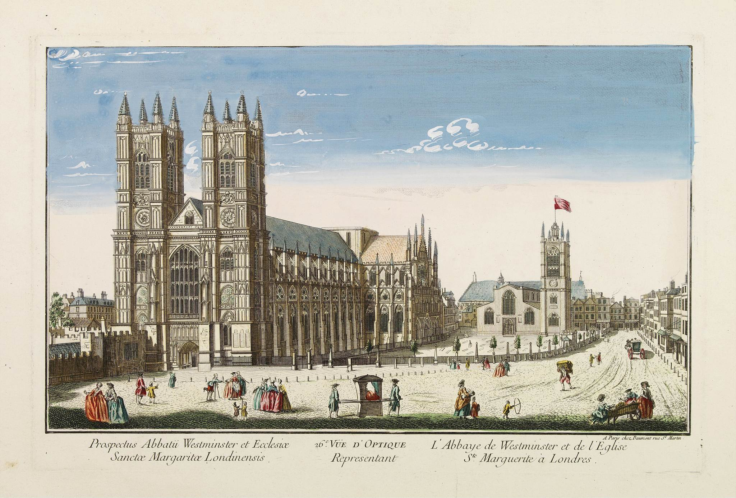 DAUMONT -  26e Vüe d'Optique Representant L'Abbaye de Westminster et de l'Eglise Ste. Marguerite à Londres.