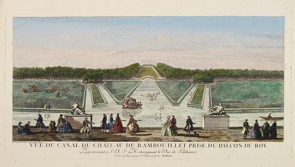RIGAUD -  Vue du Canal du Château de Rambouillet Prise du Balcon du Roy..