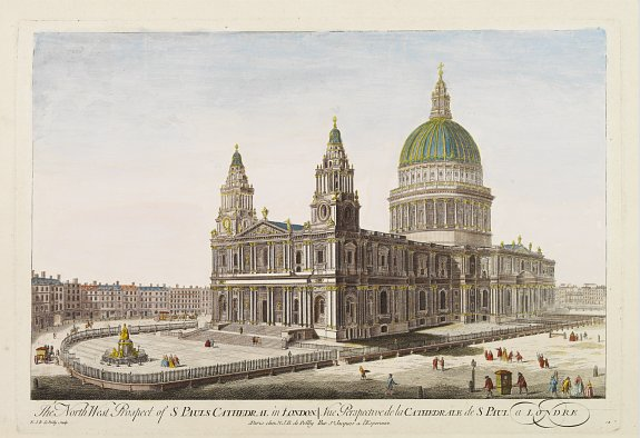 DE POILLY, N.J.B. -  The North West Prospect of S. Pauls Cathedral in London.