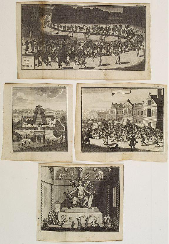 BERNARD, J.F. -  (Lot of 4 prints relating to Mexico.)