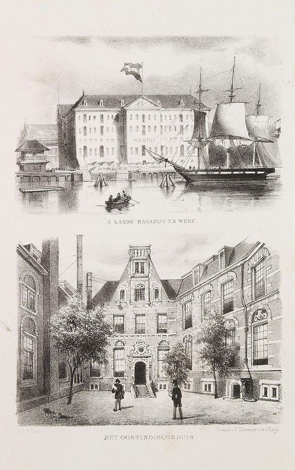 BLOMMERS, P. -  'S Lands Magazijn en Werf. [&] Het Oostindischehuis.