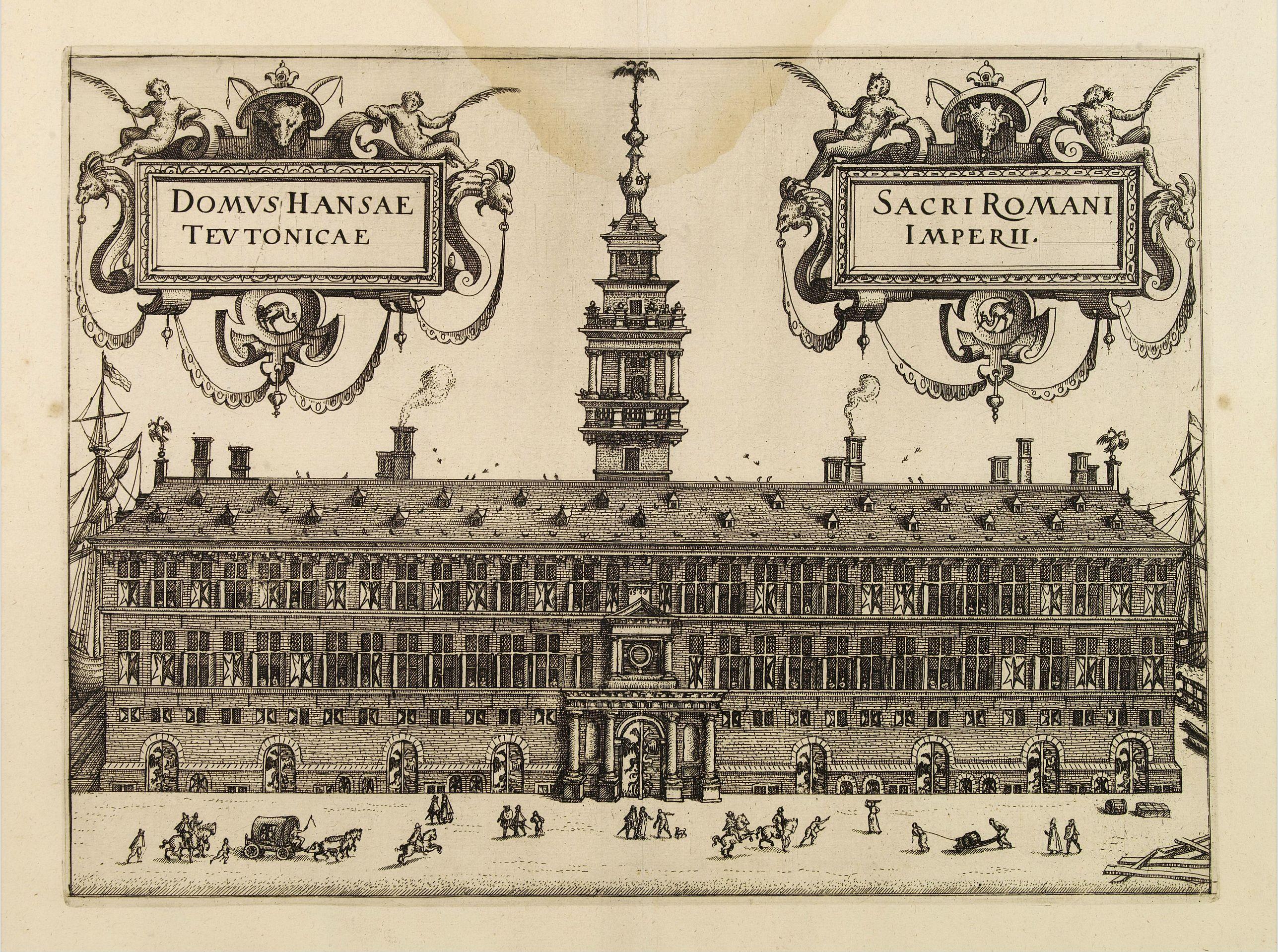 GUICCIARDINI, L. -  Domus Hansae Teutonicae / Sacri Romani Imperii. (Antwerp townhall)