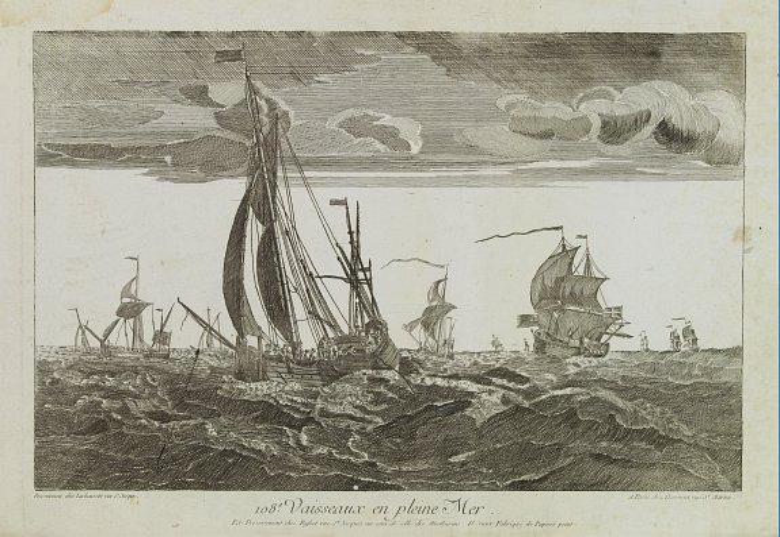 DAUMONT -  108e. Vaisseaux en pleine Mer.