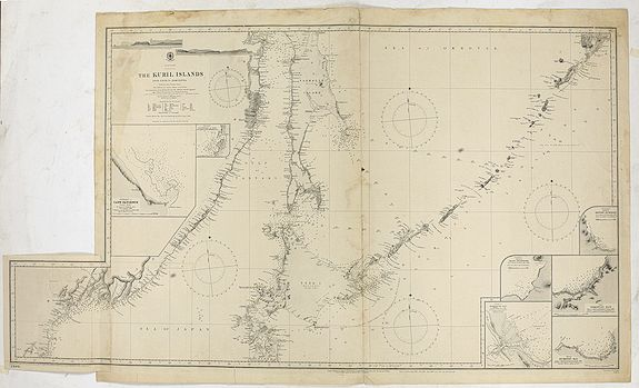 THE HYDROGRAPHIC OFFICE OF THE ADMIRALTY -  Japan - The Kuril Islands from Nipon to Kamchatka..