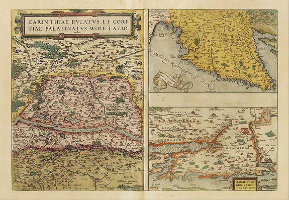 ORTELIUS,A. -  Carinthiae et Goritiae .. / Histria / Zarae / Serebenici ..