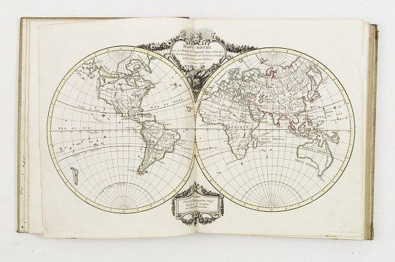 DE VAUGONDY,R./DELAMARCHE,S. -  Nouvel Atlas portatif destiné principalement..