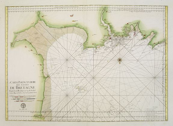 DÉPÔT GÉNÉRAL DE LA MARINE. -   Carte Particulière des Costes de Bretagne depuis Granville jusques au Cap de Frehel. . .  N°21.