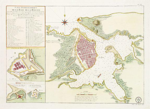 DÉPÔT GÉNÉRAL DE LA MARINE / BELLIN, J.N. -  Carte Hydrographique de la Baye de la Havane.. N° 69.