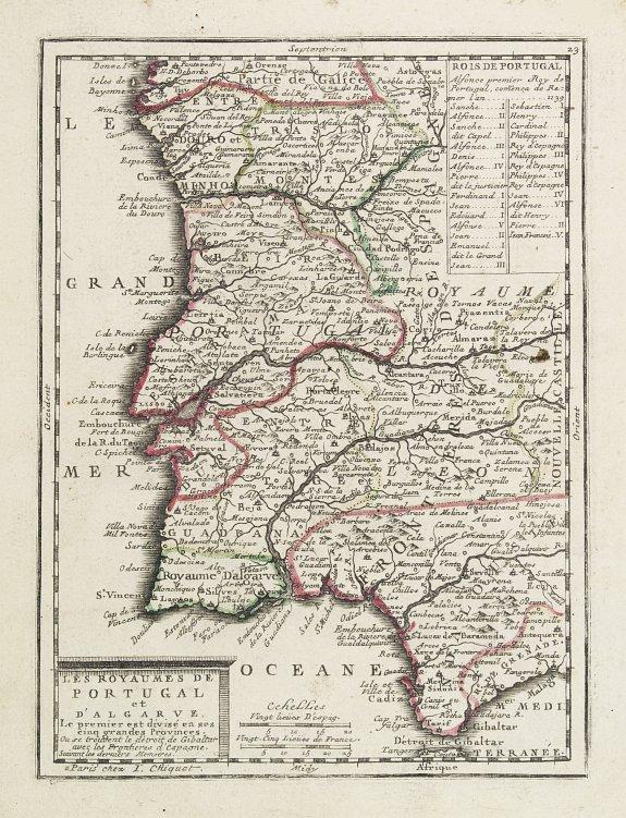 CHIQUET, J. -  Les Royaumes de Portugal et d'Algarve..