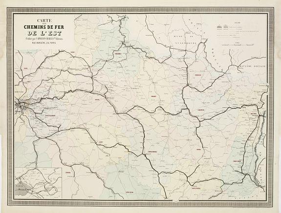 NAPOLÉON CHAIX. -  Carte des Chemins de Fer de l