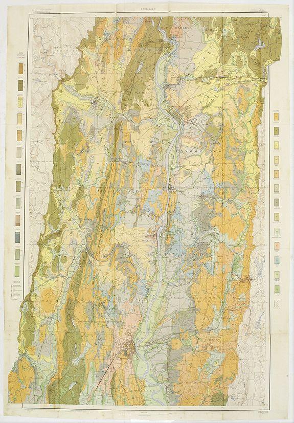 U.S. DEPT. OF ARGICULTURE -  Soil map - Connecticut. - Massachusetts, (Hartford) Springfield sheet.