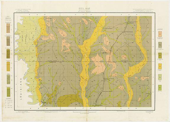 U.S. DEPT. OF ARGICULTURE -  Soil map - Mississippi, McNeill sheet.
