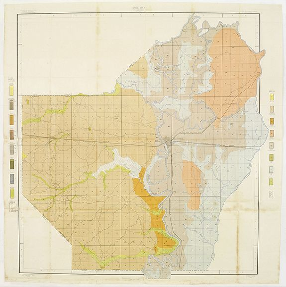 Old Map By US DEPT OF ARGICULTURE Soil Map Louisiana - Us map louisiana