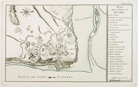 BELLIN, J.N. -  Plan de la Ville de Québec.
