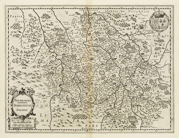 MERCATOR, G. / HONDIUS, J. -  Bourbonois, Borbonium Ducatus.