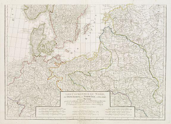 DELAMARCHE, C.F. -  [2 sheets ]  Les Couronnes du Nord, le Danemarck, la Norwège, l' Islande, et la Suède..