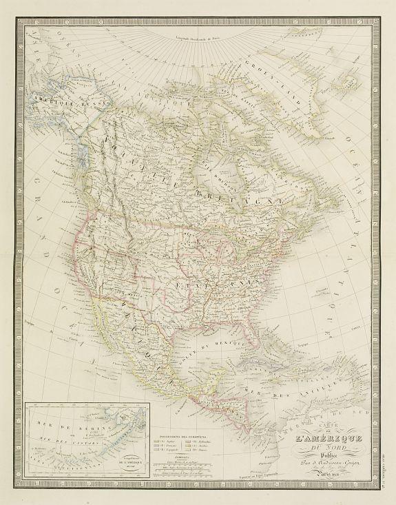 ANDRIVEAU, J. / GOUJON, J. -  Carte de l'Amerique du Nord...