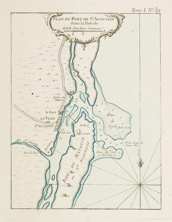 BELLIN, J.N. -  Plan du Port de St Augustin dans la Floride.