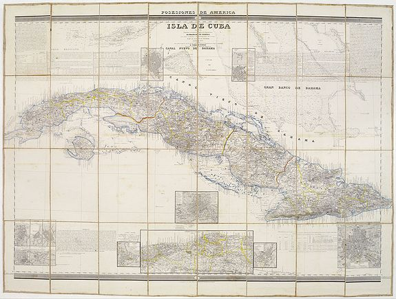 MADOZ, P. / COELLO, F. -  Posesiones de America : Isla de Cuba. [together with] Isla de Cuba. . .