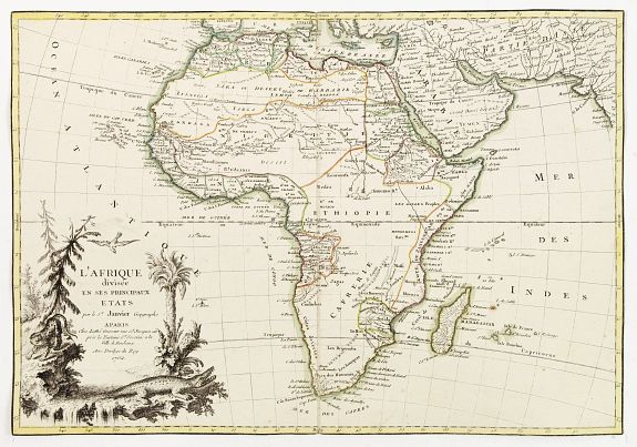 JANVIER,J. / LATTR� -  L'Afrique divisee en ses principaux etats par le sr. Janvier..