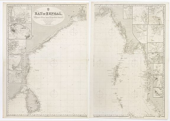 HYDROGRAPHIC OFFICE -  Bay of Bengal, compiled chiefly from government survey.. [2 sheets]