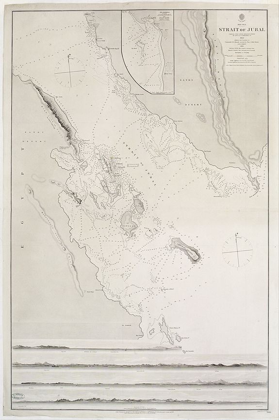 HYDROGRAPHIC OFFICE -  Red Sea - Strait of Jubal.. [2838]