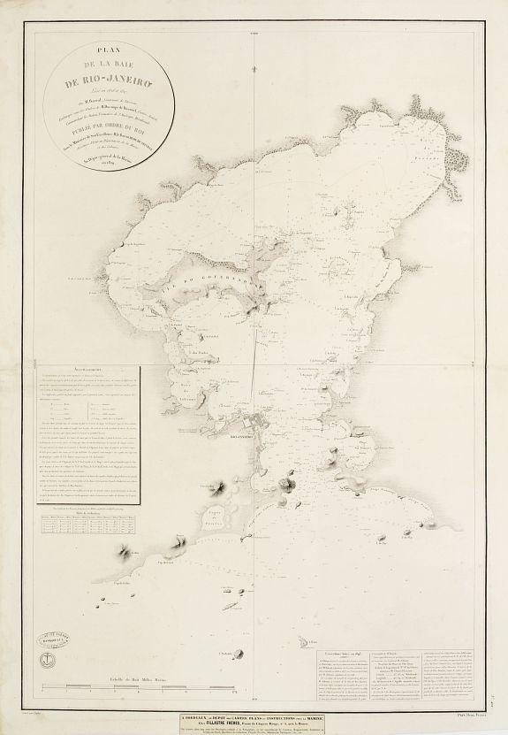 DÉPOT DE LA MARINE -  Plan de la Baie de Rio-Janeiro…