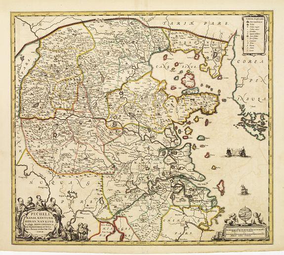 JANSSONIUS,J. -  Pecheli, Xansi, Xantung, Honan, Nanking, In plaga Regni Sinensis..