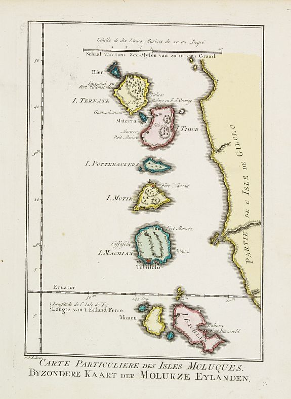 HARREVELT, E.van / CHANGUION, D.J. -  Carte Particuliere des Isles Moluques.