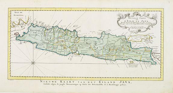 HARREVELT, E.van / CHANGUION, D.J. -  Nouvelle carte de l'Isle de Java.