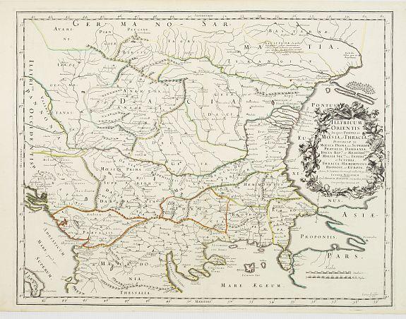SANSON,N./ MARIETTE,P. -  Illyricum Orientis In quo Partes II. Moesia et Thracia. Provinciae XI.