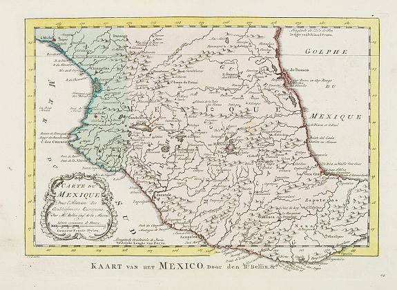 HARREVELT, E.van / CHANGUION, D.J. -  Carte du Mexique.