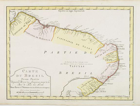 HARREVELT, E.van / CHANGUION, D.J. -  Carte du Bresil Prem. Partie..