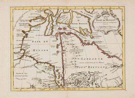 HARREVELT, E. van / CHANGUION, D.J. -  Carte de la Baie de Hudson. . .