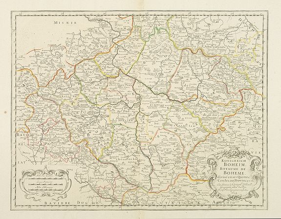 SANSON, N. / MARIETTE, P. -  Konigreich Boheim. Royaume de Boheme. . .